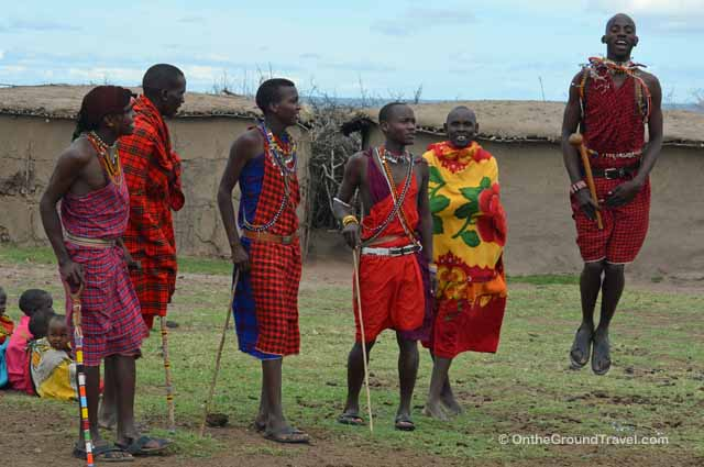 Masai Mara Tribesmen from Trips Around the World