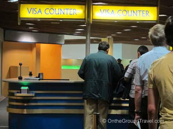 Waiting in line to buy a visa
