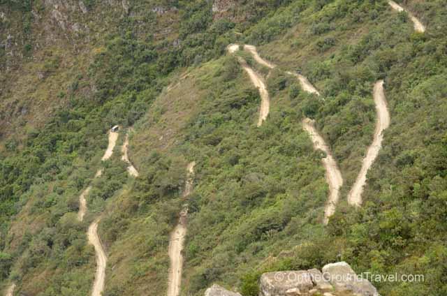 Winding Bus Route Peru Travel