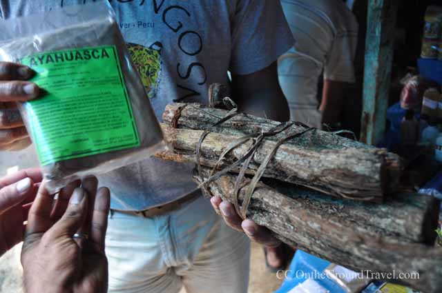 Ayahuasca sold in the Belen Market in Iquitos