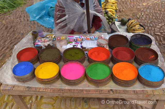 Colorful organic dyes Peru Travel