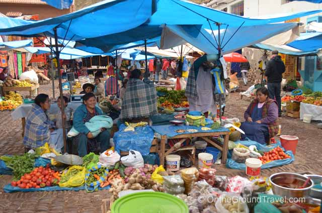 Pisac Market  in the Sacred Valley,Peru from trips around the world