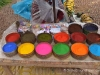 Colorful organic dyes Peru Travel