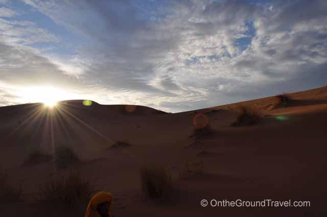 Sunrise in the Sahara Sahara Morocco Travel