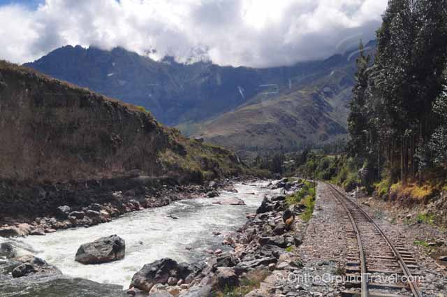Scenery along the train route Peru Travel