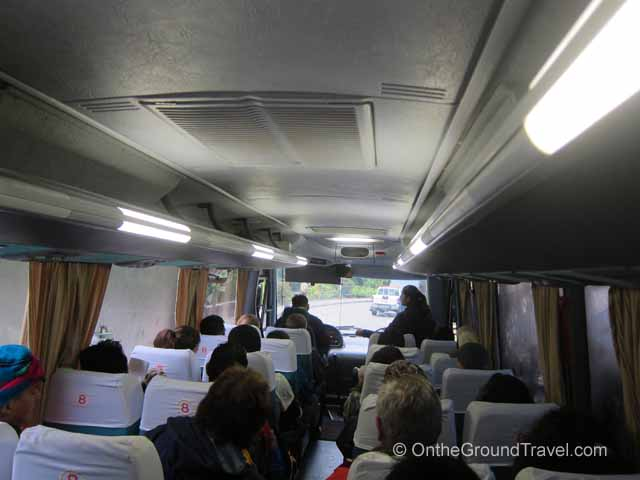 Inside the Machu Picchu Bus Peru Travel